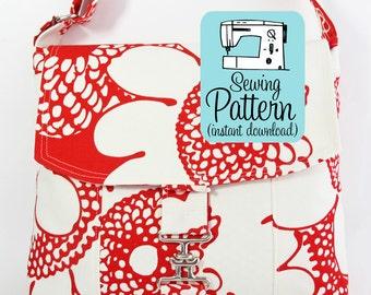 Messenger Bag PDF Sewing Pattern   Cross Body Mail Bag Sewing Pattern PDF Instructions