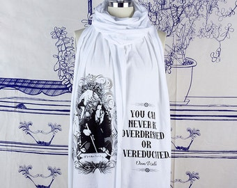 Oscar Wilde Screen printed Cotton Scarf