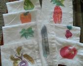 Set of 8 Vintage Handpainted Napkins
