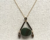 Green Imperial Jasper necklace
