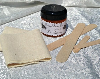 Sugar Wax Natural Hair Removal Sugaring Kit  - 2 oz Trial Size