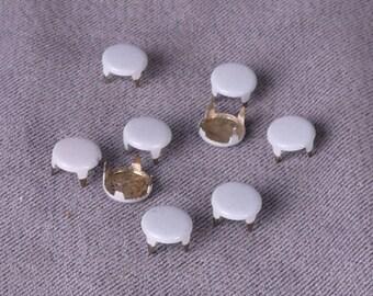 Grey Metal Studs-6mm  -100 Pieces (MS6GYR4-100)
