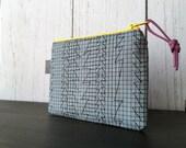 Mini Zip Pouch - Graph Paper Doodle