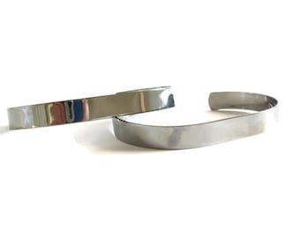 6 gunmetal dark silver cuff bracelets,bracelet base, bracelet blanks, stamping blank, bracelet for wire wrapping, bracelet base