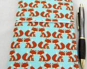 Foxes FABdori,  Fabric Travlers Notebook - Personal Size; Fauxdori: Midori Style Notebook