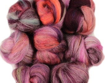 Bunny Slippers -- mini batts (2 oz.) organic polwarth, merino wool, tencel, silk, bamboo.