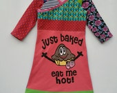 Size 6 (45 3/4 inch height) upcycled girls dress just baked