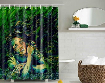 RW2 Mermaid Shower Curtain by Robert Walker