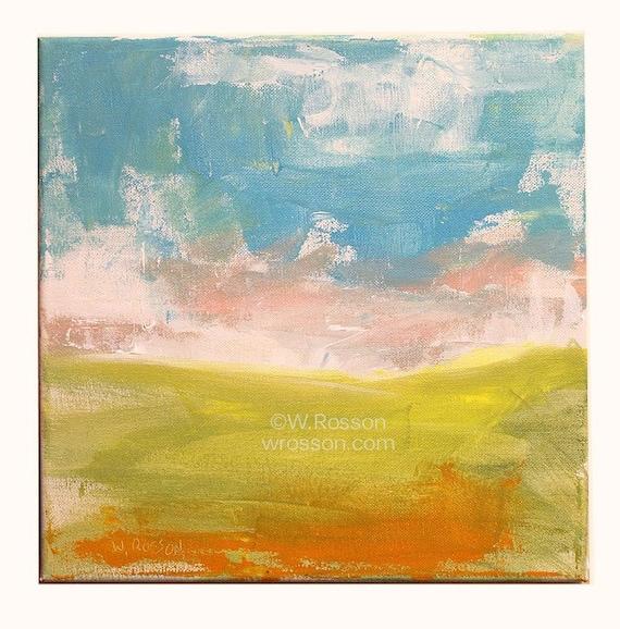 Minimalist landscape painting abstract minimal modern art for Minimal art landscape