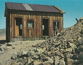 Vintage 1950s Postcard Death Valley California Skidoo Miner's Shack Ghost Town Abandoned Scenic Photochrome Era Postally Unused