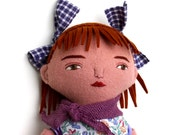 Red-haired Summer Girl doll wool blond