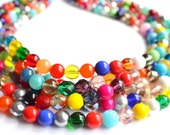 The Fiesta- Multi Color Czech Glass Statement Necklace