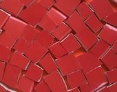 Blood Red Mosaic Tiles Broken China Tile