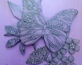 Purple One - 6x6 Original Painting on wood panel