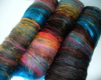 Hand Spinning Multi Fibered Batts for Hand Spinning Yarn