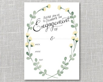 Customizable Engagement Party Invitation Printable Instant Download PDF