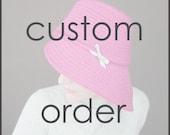 Custom Order, Reserved : Confidante in black & brown tweed