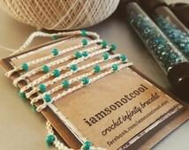 Crochet Infinity Bracelet wrap anklet nautical choose your color wrap bracelet infinity bracelet crochet bracelet handmade bracelet
