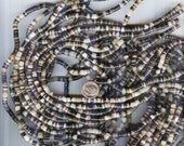 "NEW Brownlip Natural Shell Heishi Beads 4-5mm 20"" Strand"