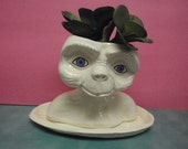 E.T. Bust Planter with drain dish