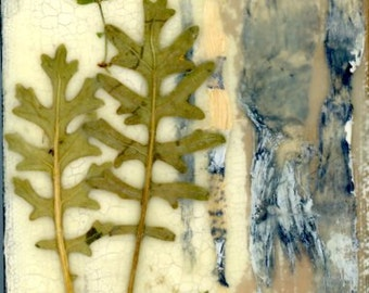 Pressed flower art, nature collage, Beeswax art, small painting, farmhouse decorating