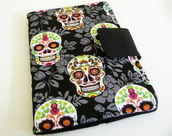 Sugar Skulls Cover for Kindle 4 or 5, Kindle Voyage, Kobo Touch Cover