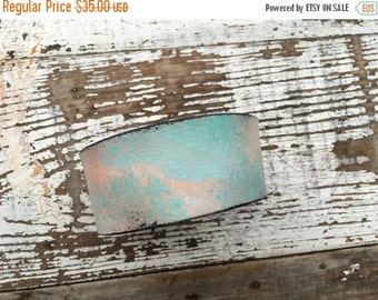 40% FLASH SALE- Custom Leather Cuff-Create Your Own-Word Cuff-Hand Painted-Colorful Sunset