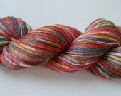 Self Striping handpainted sock yarn Autumn 4 oz