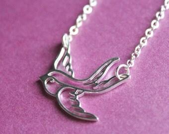 Silver Bird Necklace - Chain