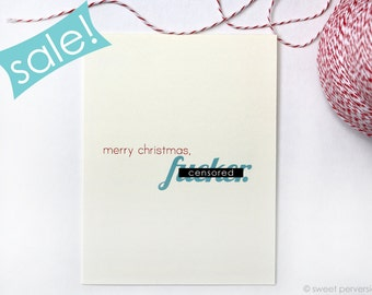 ON SALE. Christmas Cards. Mature Cards. Merry Christmas F*cker.