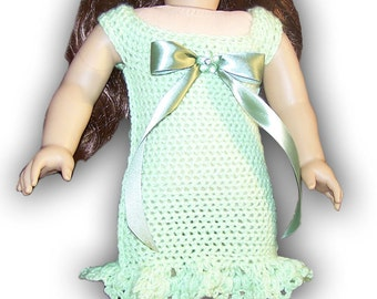 "Easy Peasy 18"" Doll or American Girl Dress for Special Occasion Crochet Pattern"