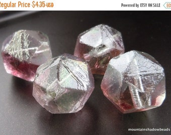 25% OFF Sale Pink Crystal Luster Czech Glass Beads 16mm English Cut 4