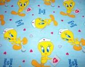 Nurses Are Tweet Looney Tunes Cotton Fat Quarter FQ Fabric Piece 100% cotton