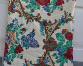 Vintage Fabric, Floral Fabric, Fabric Remnant, 1950's Fabric, Remnant, Fabric, Retro Fabric, Fabric Piece, 2 Yards Fabric,Large Fabric Piece