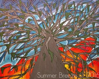 Dreamin' Up, Cedar Tree, Giclee Print, 12x9