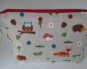 Woodland zippy pouch