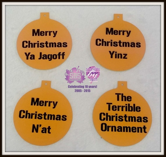 A Very Merry Borik�n Christmas: Pittsburghese Christmas Ornament Merry By Sparklesbyshell