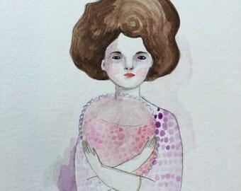Original watercolor - Arlene