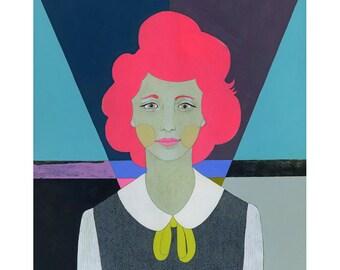 Work In Progress - Original Acrylic Abstract Art Portrait Painting