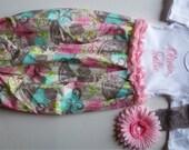 Baby girl newborn girl going home set-baby girl coming home-newborn girl clothes, personalized baby girl-newborn hospital set-baby headband