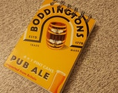 Boddingtons Beer Spiral Notepad Blank Paper Pages British Bee Pub Alex Honey Fun Small