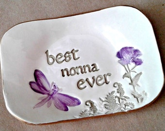 NONNA Trinket  Dish Best Ever Mothers Day Gift