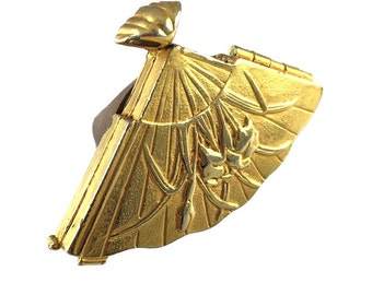 Gold Geisha Fan Ring