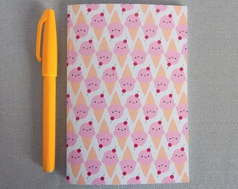 Ice Cream Cones Pocket Notebook - Kawaii Summer