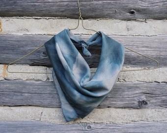 Silk cotton wool dyed scarf
