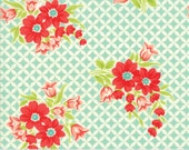 Handmade - Gwendolyn in Aqua: sku 55146-12 cotton quilting fabric by Bonnie and Camille for Moda Fabrics - 1 yard