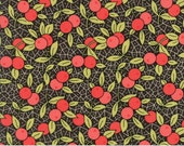 Chestnut Street - Berries in Chalkboard Black: sku 20273-17 cotton quilting fabric by Fig Tree and Co. for Moda Fabrics - 1 yard