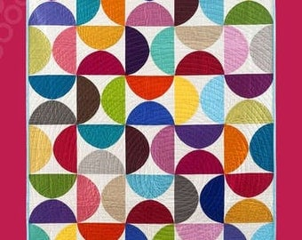 SALE - Hemispheres quilt pattern from Aria Lane - 6 sizes