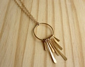 ON SALE Drop Fringe Necklace