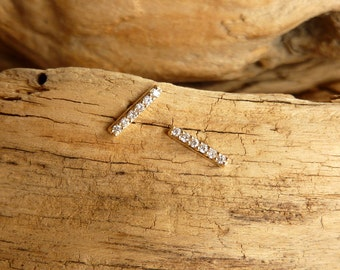 Diamond Bar Studs